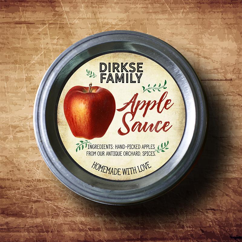 custom apple sauce label apple jelly jam apple butter canning