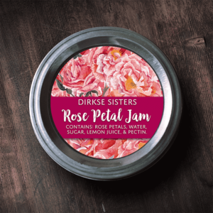 Rose Petal Jam Label