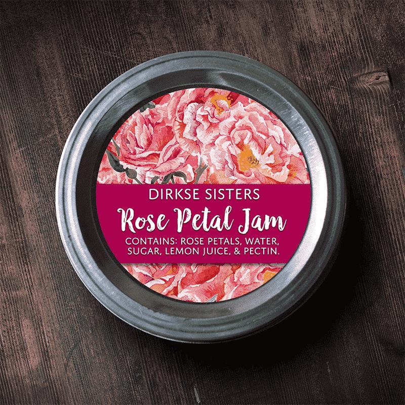 Rose Petal Jam Label