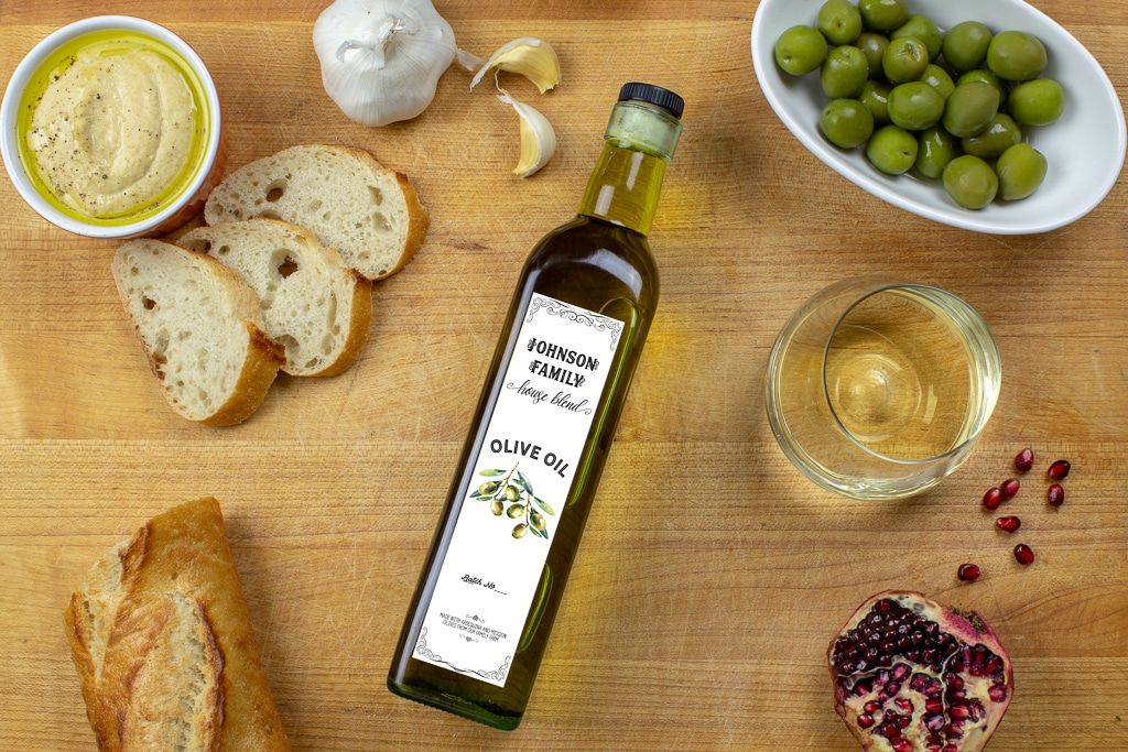 Customizable Olive Oil Label