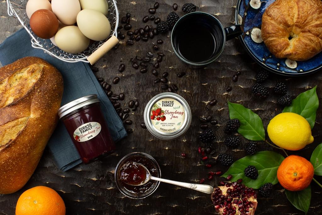 Customizable Strawberry Jam Labels