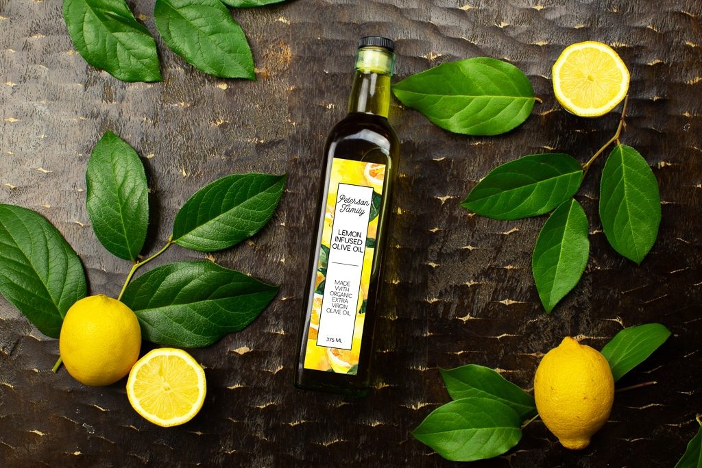 Lemon Infused Olive Oil Customizable Label