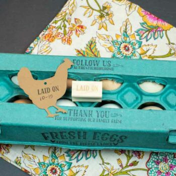 Egg Carton Stamp Laid On