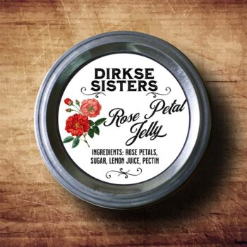 Classic White Rose Canning Label