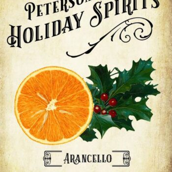 Holiday Arancello Label - Orange Liqueur
