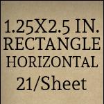 1.25x2.5 inch - Horizontal [21 per sheet]