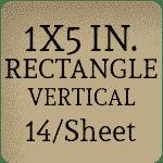 1 x 5 inch [14 per sheet]