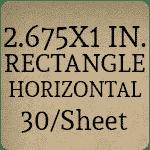 2.625 x 1 - Horizontal [30 per sheet]
