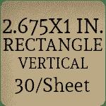 2.625 x 1 - Vertical [30 per sheet]