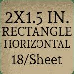 2 x 1.5 inch Horizontal [18 per sheet]