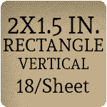 2 x 1.5 inch Vertical [18 per sheet]