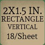 2 x 1.5 inch Vertical [18 per sheet]