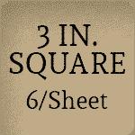 3 inch Square [6 per sheet]