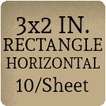 3 x 2 Rectangle Horizontal Orientation [Rounded Corners] [10 per sheet]