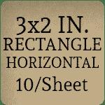 3 x 2 Rectangle Horizontal Orientation [Rounded Corners] [10 per sheet]