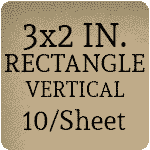 3 x 2 Rectangle Vertical Orientation [Rounded Corners] [10 per sheet]