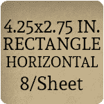4.25x2.75 inch - Horizontal [8 per sheet]