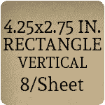 4.25x2.75 inch - Vertical [8 per sheet]
