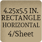 5.5 x 4.25 Rectangle [4 per sheet]