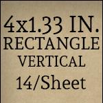 4 x 1.33 - Vertical [14 per sheet]