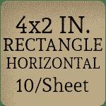 4x2 inch - Horizontal [10 per sheet]