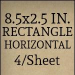 8.5in x 2.5in [4 per sheet]