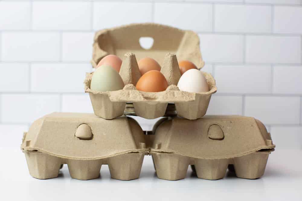 Half Dozen Brown Egg Cartons - Split 6