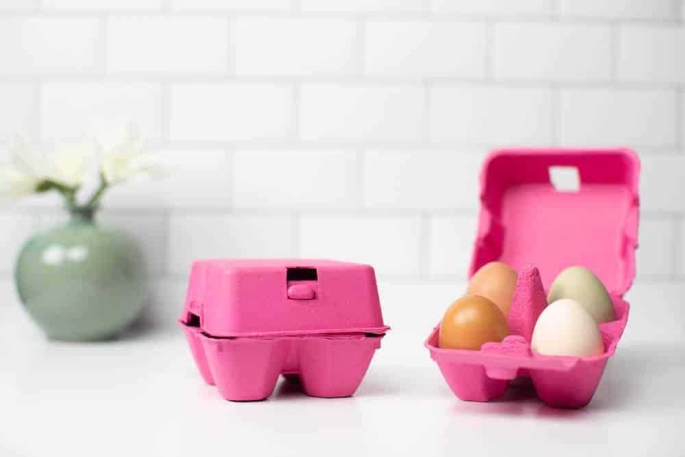 Pink Four Egg Carton