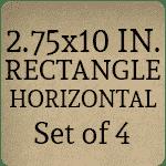 2.75 x 10 inch [Set of 4]