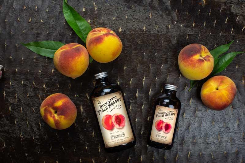 Peach Brandy Whiskey or Liqueur Label