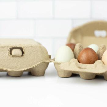 Half Dozen Egg Carton - Natural