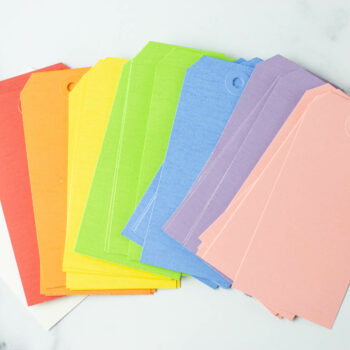 Large Multicolor Hang Tags